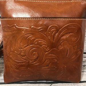 Patricia Nash Bags - Patricia Nash Leather Crossbody Bag Tooled Purse